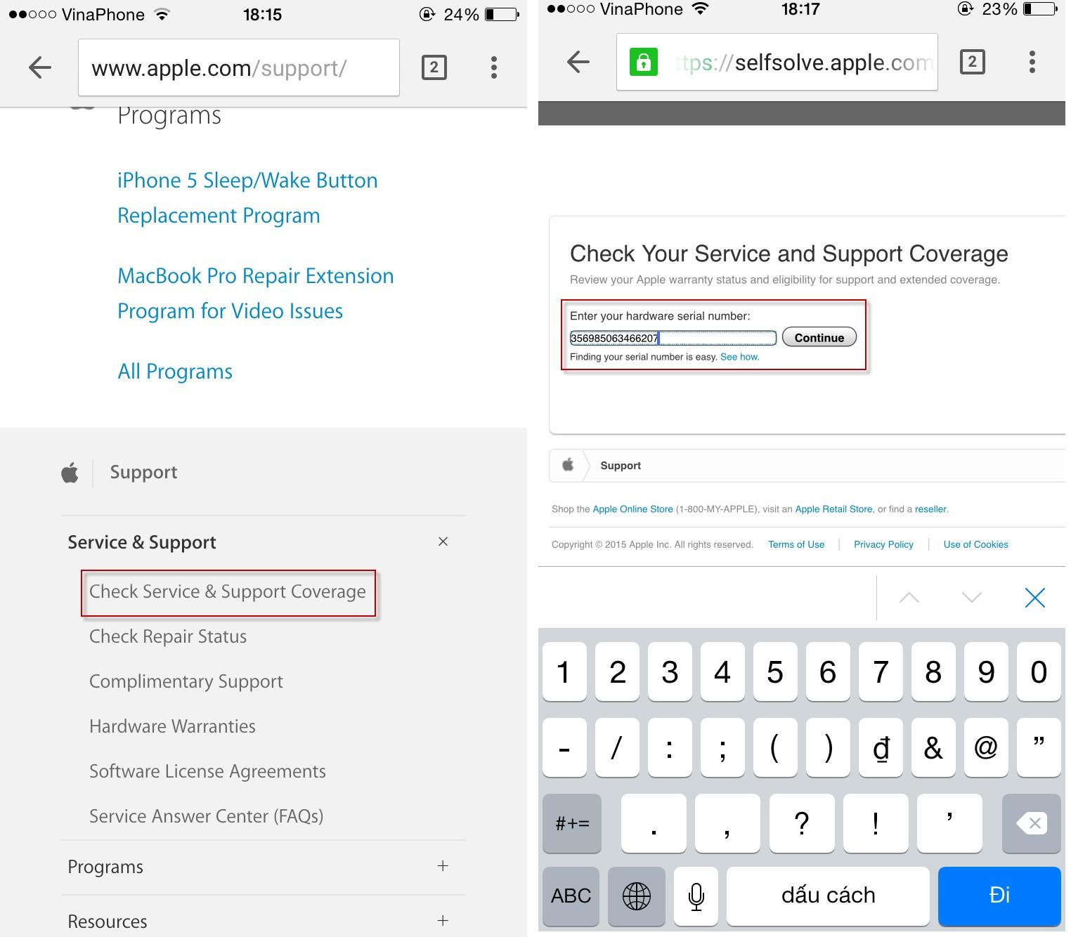 Cách kiểm tra imei iphone ipad chính hãng apple khi mua cũ - 3