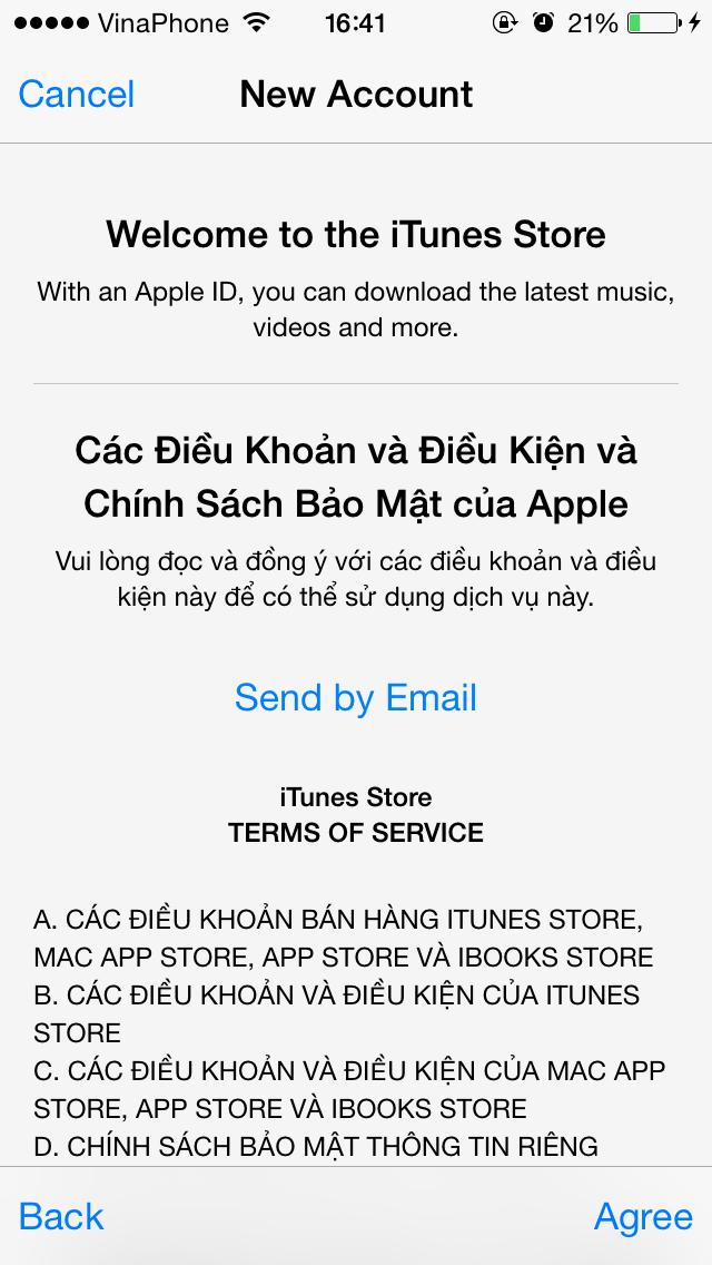 Cách tạo id apple free trên ios - 11