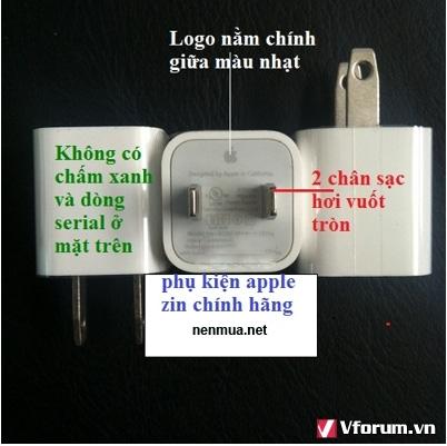 Sạc iphone zin theo máy - 1