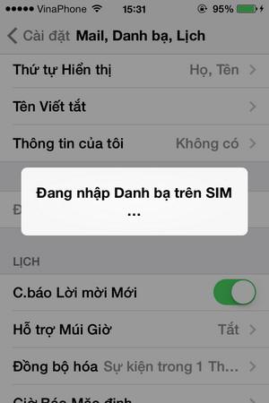 Sao chép danh bạ từ sim sang iphone - 4