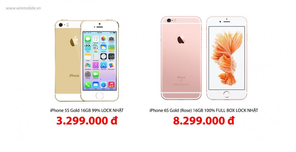Iphone 5s 6s đồng loạt giảm giá từ 300000 đến 1 triệu đồng tại winmobilevn - 1