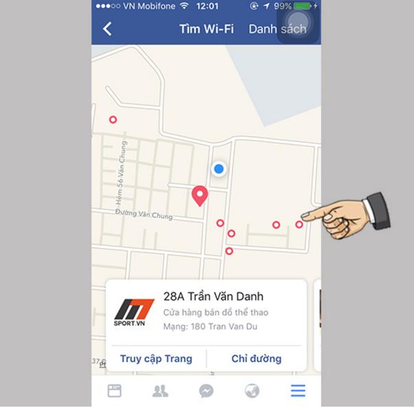 Cách tìm kiếm wifi miễn phí của facebook trên ios - 4