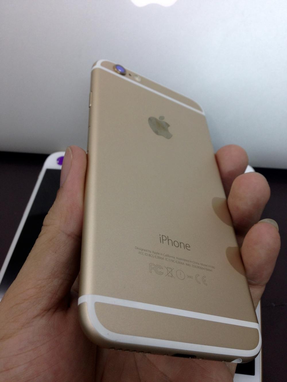 iPhone 6 16G - Lock - Gold loại C slide 963